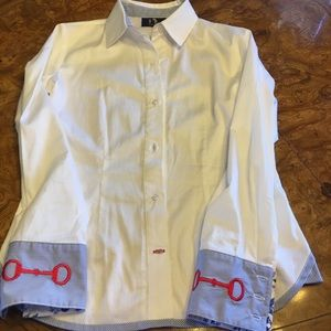 Ronner White Equestrian Themed  Shirt 8